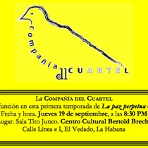 "Flyer for ""La paz perpetua"""