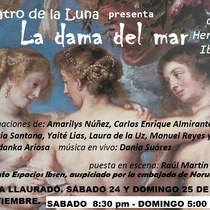 "Postcard for the production, ""La dama del mar"""