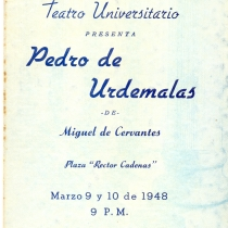 "Poster for the production, ""Pedro de Urdemalas"""