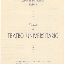"Program for the productions, ""Pan viejo"" and ""Tierra"""