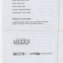 Program for the theatrical production, El tío Vania