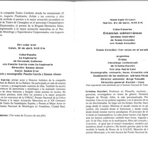 Program for the Primer Festival Internacional del Monólogo