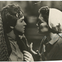 "Teresa María Rojas and Rosa María Quintana, in the teleplay ""La barca sin pescador"""