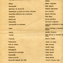 "Program for the production, ""El burgués gentilhombre"""
