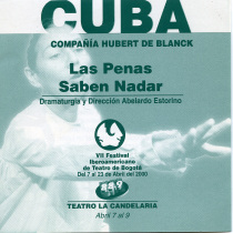 "Flyer for the production, ""Las penas saben nadar"""