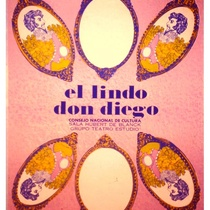 Poster for the production, El lindo Don Diego