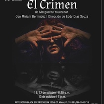Poster for the theatrical production, El crímen
