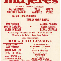 "Poster for the production, ""Mujeres"" (Women)"