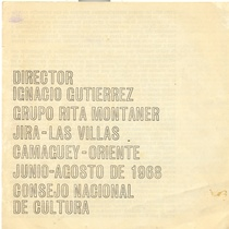 "Program for the production, ""Cuadratura del circulo"""