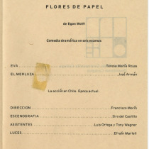 "Program for the production, ""Flores de papel"""
