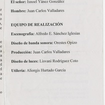 "Program for the production ""Arcoiris"""