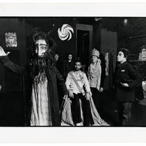 "Cecilia Dighero (with mask), Manuel Yesckas, Gloria Zelaya, Edwin Avila in the production, ""Rasputin"""