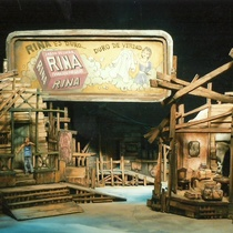 "Stage design for the production, ""El premio flaco"""