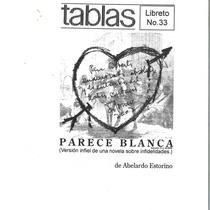 Autographed front page of Parece Blanca