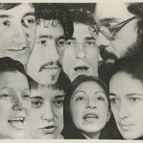 "Photograph of the actors in the production, ""Cap-a-Pie"""