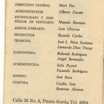 "Program for the production, ""Muchacho de oro"""