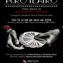 Poster for the theatrical production, Puro Teatro