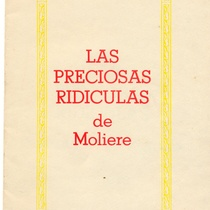 "Program for the production, ""Las preciosas ridículas"""