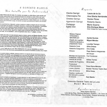 "Program for the production, ""Electra Garrigó"" 1997"