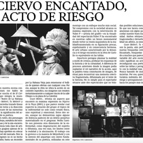 Press clipping of El Ciervo Encantado