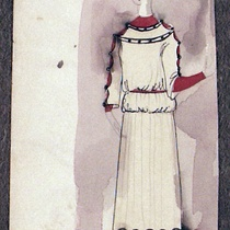 "Costume Design Drawings (21-40) for the production, ""Oh, la gente"""