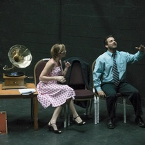 "Photographs of a rehearsal for the production, ""El día que me quieras"""