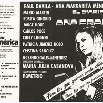 "Poster for the production, ""El diario de Ana Frank"""