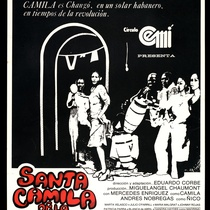 "Poster for the production, ""Santa Camila de La Habana Vieja"""