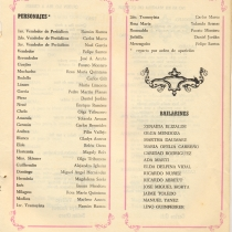 "Program for the production, ""Las vacas gordas"""
