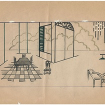 Set design of a house interior