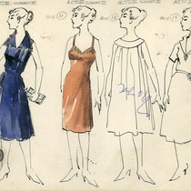 "Costume designs for the theatrical production, ""Aire frío"""