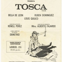 "Playbill for the opera, ""Tosca"""