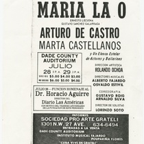 "Playbill for the production, ""María la O"""