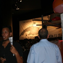 "Photograph of the exhibit, ""A la eterna memoria"""