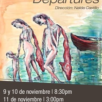 "Poster for the production ""Departures"" in Miami"