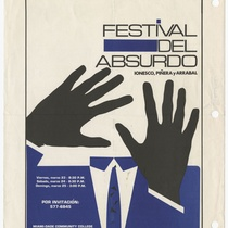 "Poster for the production, ""Festival del Absurdo"""