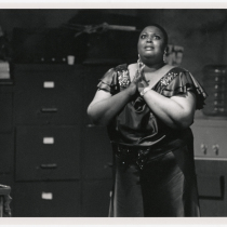 Jannis Warner (Bessie) in the theatrical production, Rita and Bessie