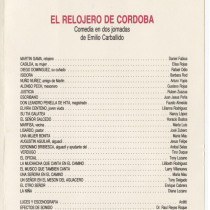 "Program for the production, ""El relojero de Córdoba"""