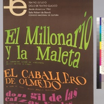 "Poster for the production, ""El millonario y la maleta"""