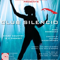 Poster for the theatrical production, Club silencio