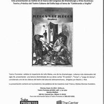 "Flyer for the Reading, ""Juegos y rejuegos"""