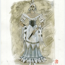 Costume design for the ballet, ¡Sí señor! ¡Es mi son!