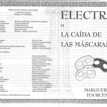 "Program for the production, ""Electra o la caída de las máscaras"""