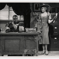 "Janis Warner (Bessie) and Jill Romero (Rita), in ""Rita and Bessie"""