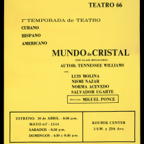 "Poster for the production, ""Mundo de cristal"""