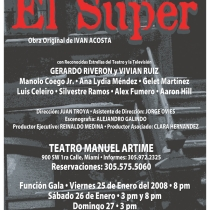 "Poster for the production, ""El Super"""