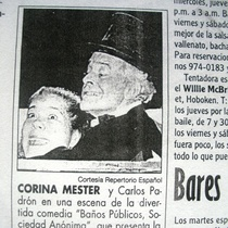 Newspaper clippings about the production, Baños Públicos, S. A.