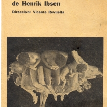 "Program for the production, ""Peer Gynt"""