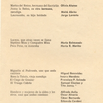 Program for the theatrical production, Divinas palabras