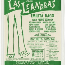 "Poster for the production, ""Las Leandras"""